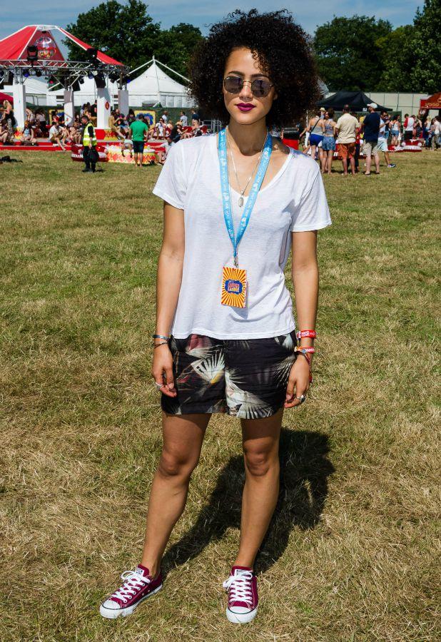 Nathalie Emmanuel in Louder Lounge at V Festival August 2015