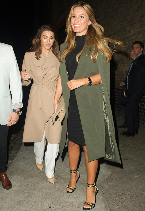Sam Faiers and Luisa Zissman leaving the Chiltern Firehouse together. Sam was pictured for the first time since announcing she is pregnant. 27 August 2015
