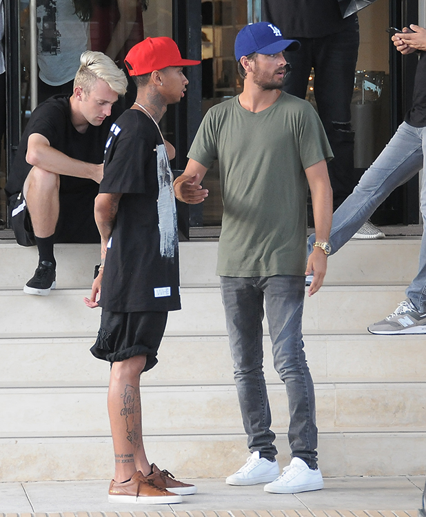 Scott Disick and Tyga are seen on August 25, 2015 in Los Angeles, California. (Photo by Bauer-Griffin/GC Images)