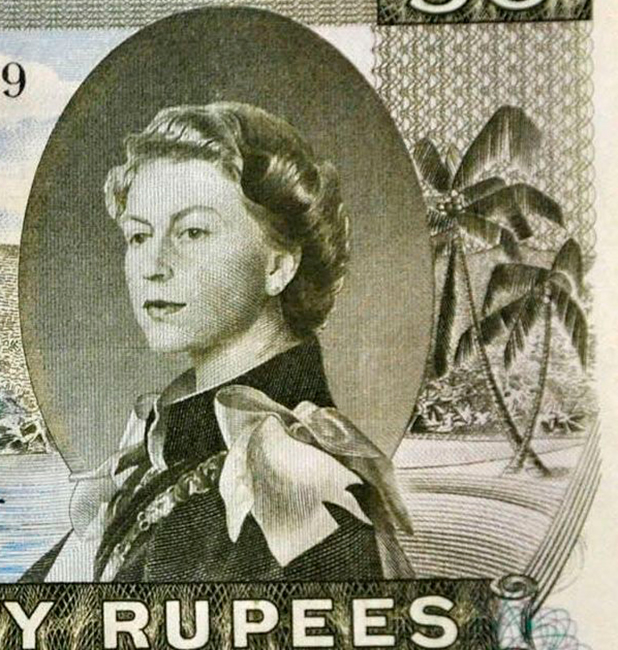 Seychelles banknote with word 'sex' hidden in design to be auctioned, Dorchester, Britain - 17 Aug 2015