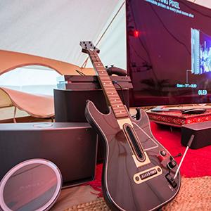 Virgin Media Supercharged Yurt at V Festival 2015 Guitar hero