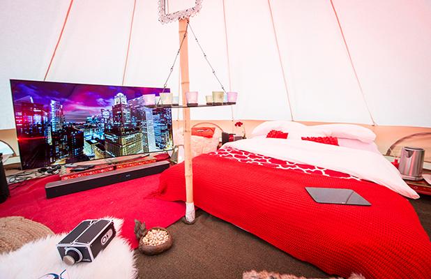 Virgin Media Supercharged Yurt at V Festival 2015