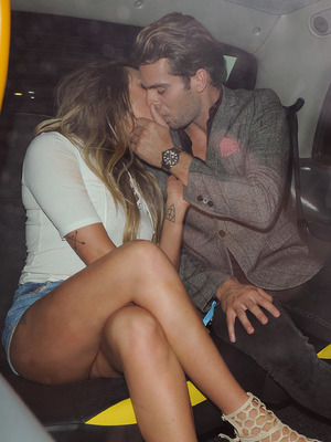 Charlotte Crosby and Max Morley kissing 2 September