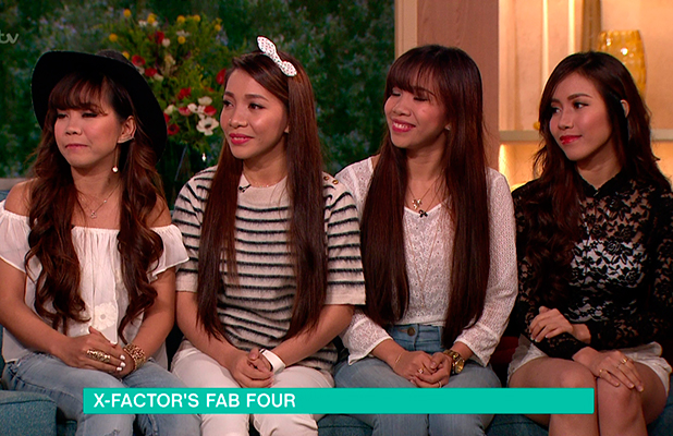 4th Power appear on 'This Morning' to talk about their 'X Factor' audition . Broadcast on ITV1 HD