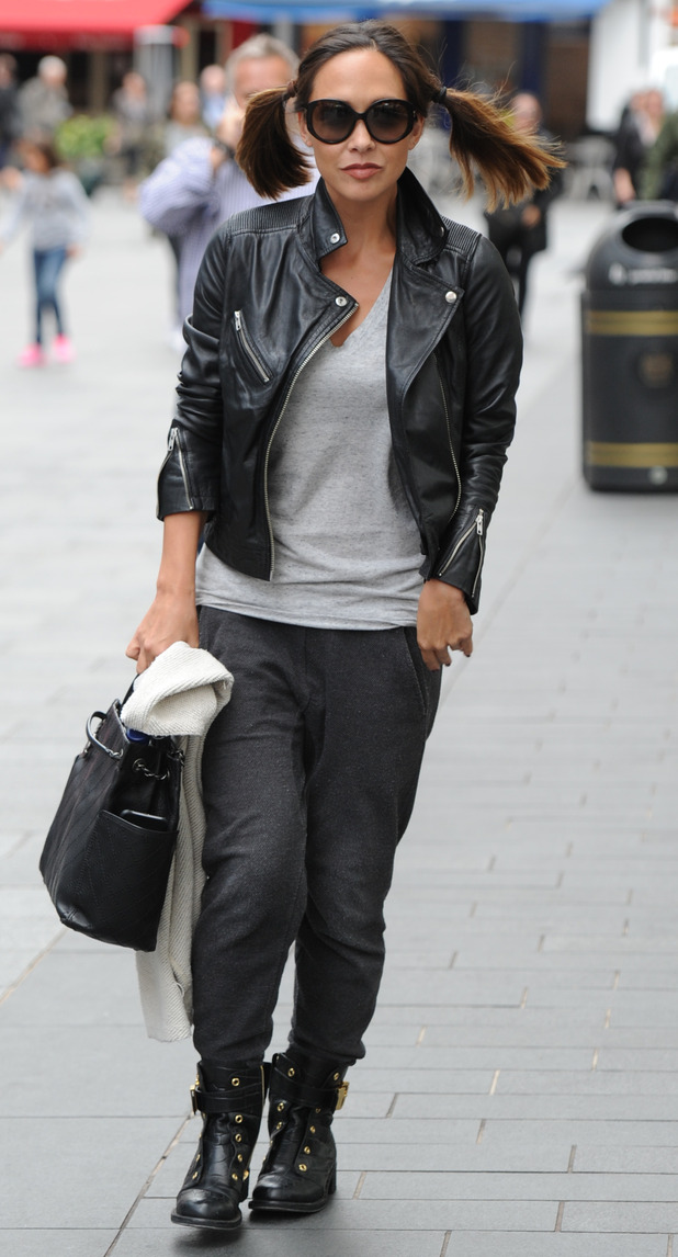 Myleene Klass out and about in London, leaving Smooth Radio 1st September 2015