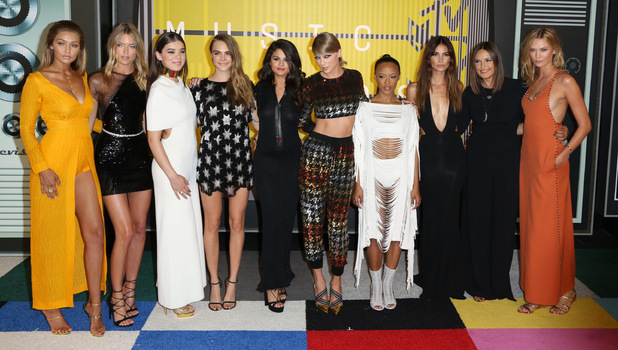 Taylor Swift leads some of the world's most beautiful women at the VMA Awards, 30 August 2015.