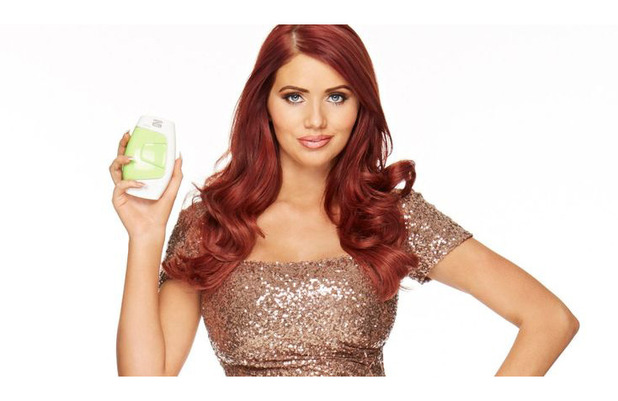 Amy Childs poses in Silk'n beauty campaign shoot, 1st September 2015