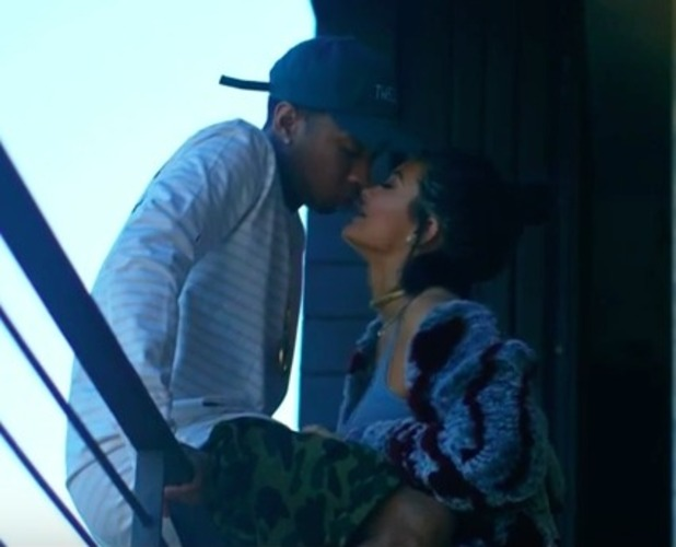 Tyga and Kylie Jenner make out in the video to his single Stimulated, 30 August 2015