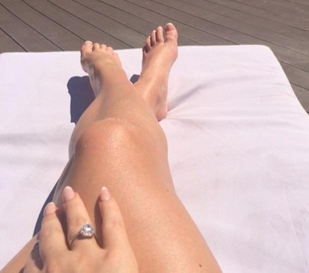 Amy Childs poses in bikini for mirror selfie, 1st September 2015