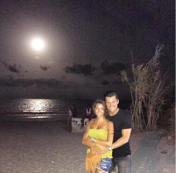 Mark Wright and Michelle Keegan in Ibiza 2 September