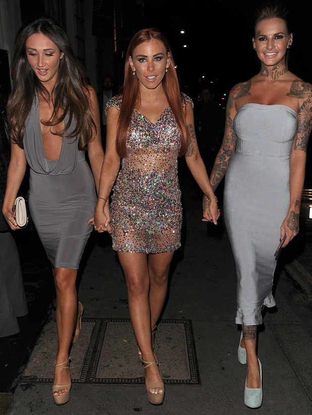 Megan McKenna, Amy Cooke and Jemma Lucy at Steam and Rye, London 1 September