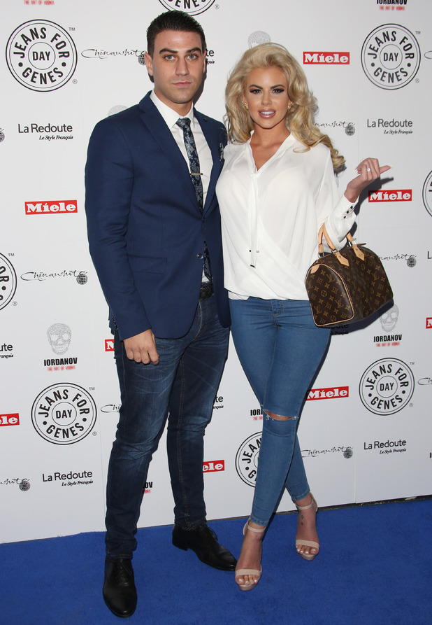 Jon Clark and Hannah Elizabeth, Jeans For Genes party, London 2 September