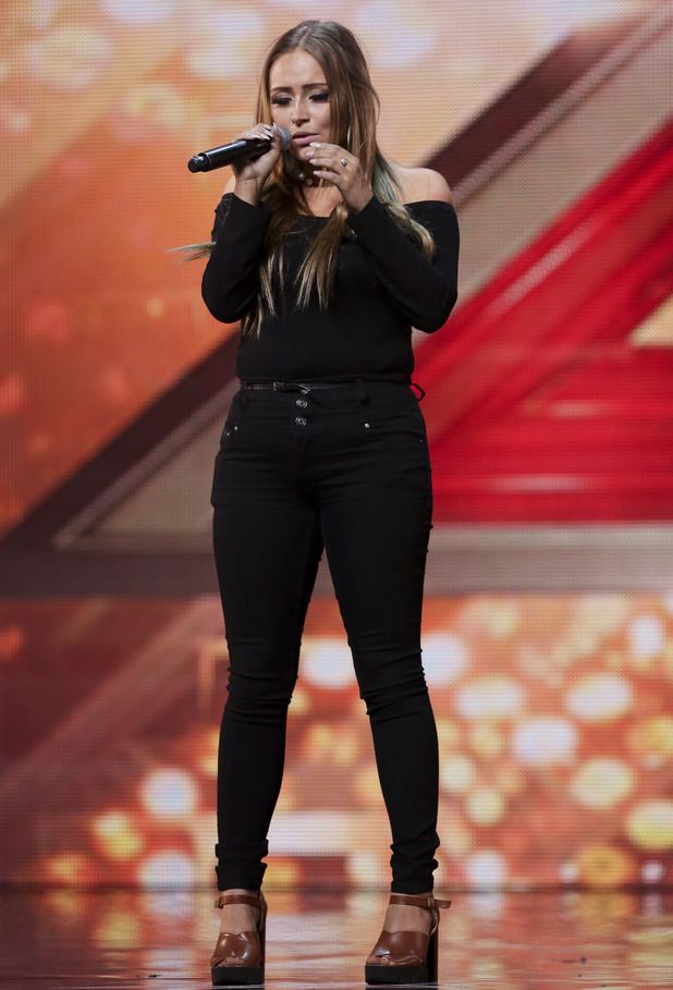 X Factor hopeful Sophie Plumb at arena auditions - Wembley. July 2015.