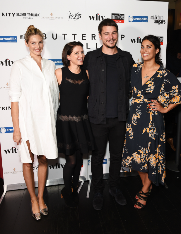 Tamsin Egerton, Sadie Frost, Josh Hartnett and Emilie Richard-Froozan attend the UK Premiere of 'Buttercup Bill' at Curzon Soho on September 1, 2015 in London, England. (Photo by David M. Benett/Dave Benett/WireImage)