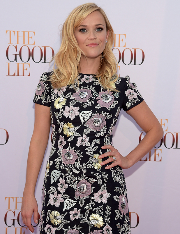 Reese Witherspoon walks 'The Good Lie' Red Carpet at The Belcourt Theatre on September 19, 2014 in Nashville, Tennessee. (Photo by Rick Diamond/Getty Images for Warner Bros)