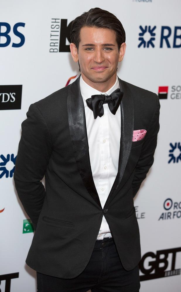 Ollie Locke at the British LGBT Awards at the Landmark Hotel April 2015