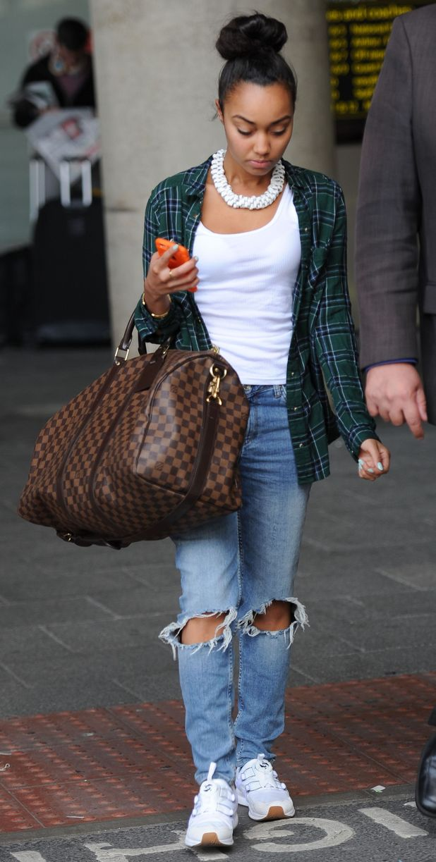 Little Mix's Leigh-Anne Pinnock at Gatwick Airport, 7th September 2015