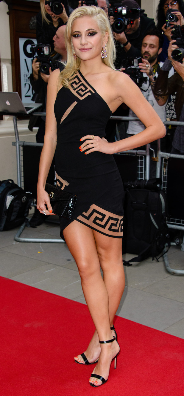 Pixie Lott wearing Versace at the GQ Men of The Year Awards, 9th September 2015