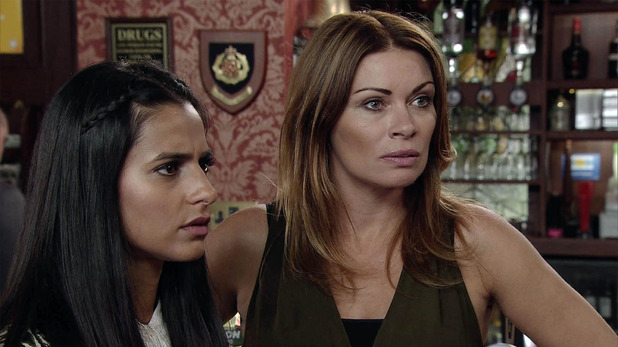 Corrie, Will Carla tell Alya Tracy was responsible for the fire, Wed 9 Sep