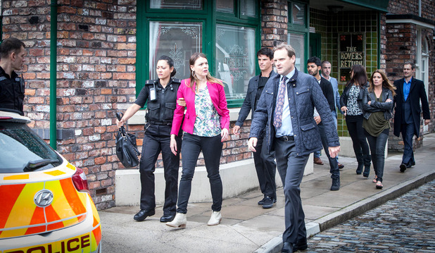Corrie, Tracy arrested, Thu 10 Sep