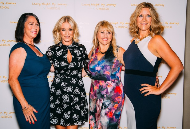 Denise Van Outen hosts new weight loss documentary, My Journey, following four women -  Gemma, Kim, Sarah and Sue. September 2015.