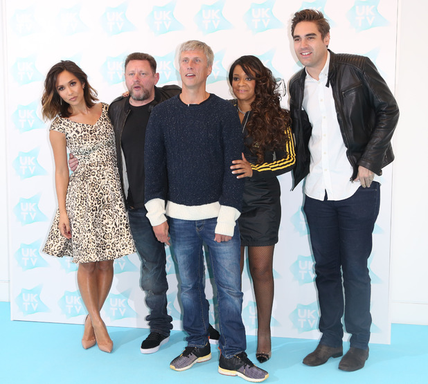 Myleene Klass, Shaun Ryder, Bez, Rowetta Idah ,Charlie Simpson at UKTV new season launch event held at NEW Phillips Gallery - Arrivals - 09/08/2015.