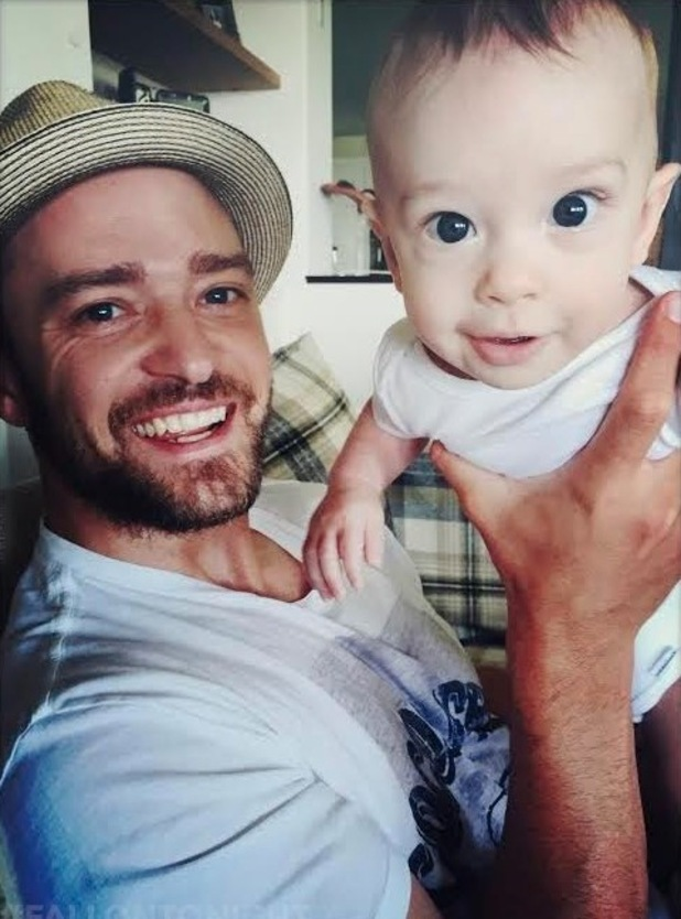 Justin Timberlake with his son Silas, 10th September 2015