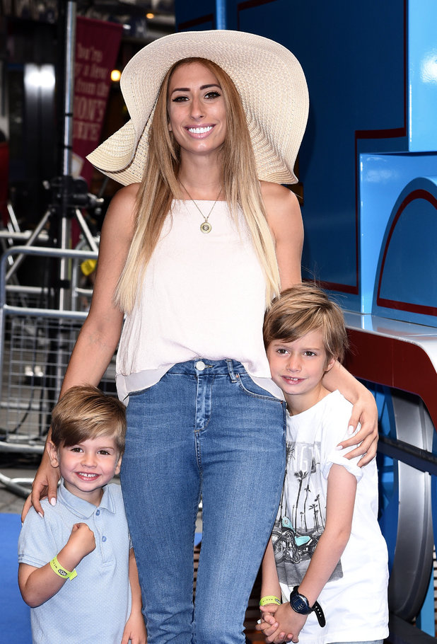 Stacey Solomon and kids at 'Thomas and Friends - Sordor's Legend of the Lost Treasure' UK Film Premiere, London 21/7/15