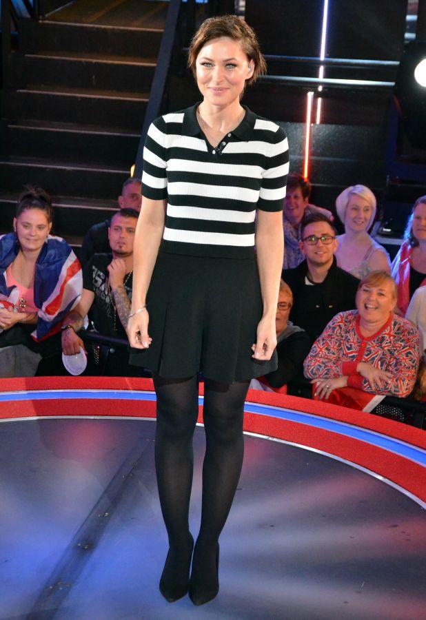 Emma Willis at the second Celebrity Big Brother eviction 8 September 2015