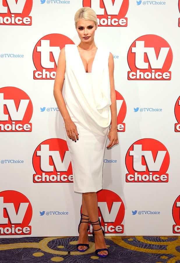 The TV Choice Awards held at London Hilton Park Lane Chloe Sims