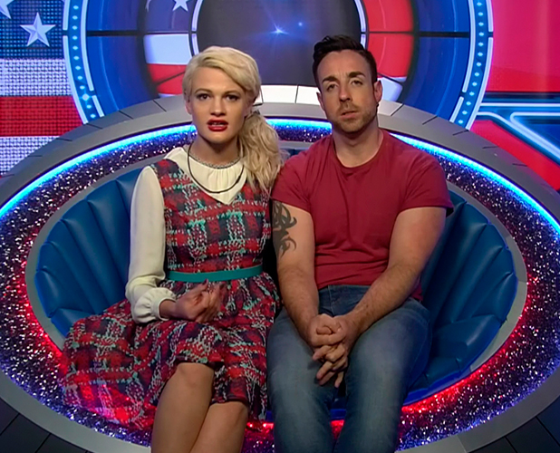 Stevi Ritchie and Chloe-Jasmine Whichello in the diary room on 'Celebrity Big Brother'. Broadcast on Channel 5 HD.