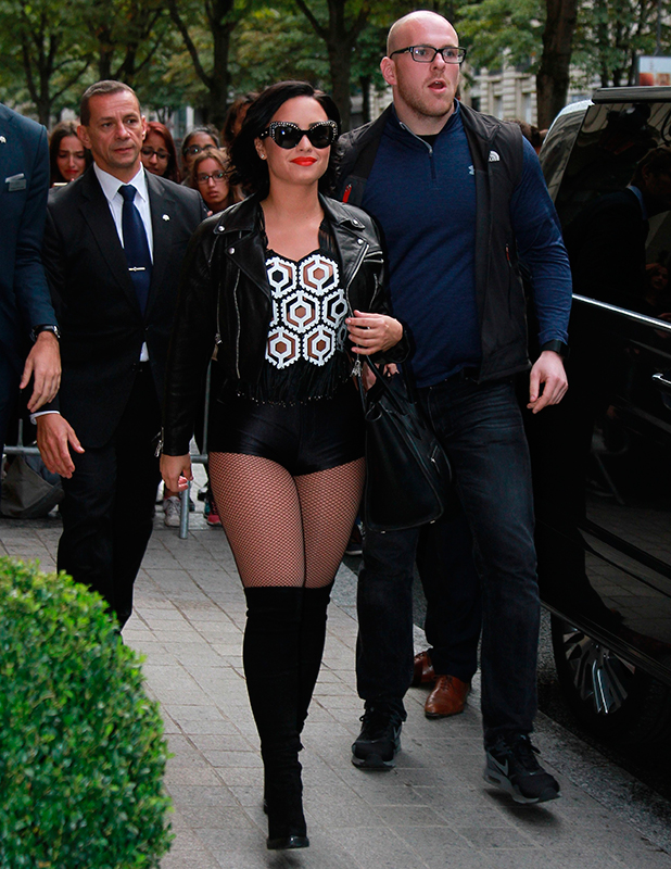 Demi Lovato at the Le Royal Monceau - Raffles Paris 6 September 2015