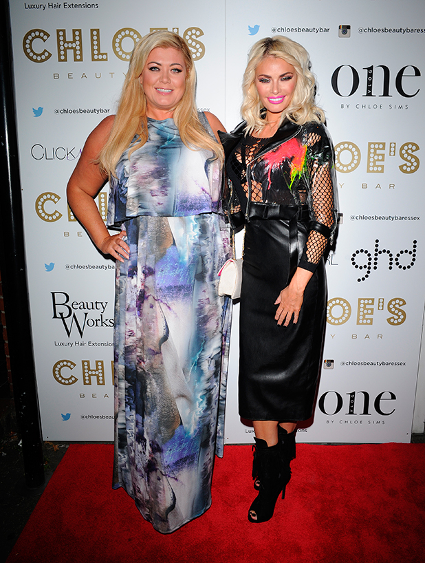 Celebrities head to Chloe's Beauty Bar for Chloe Sims launch of her Vlog. Gemma Collins 10 Sep 2015