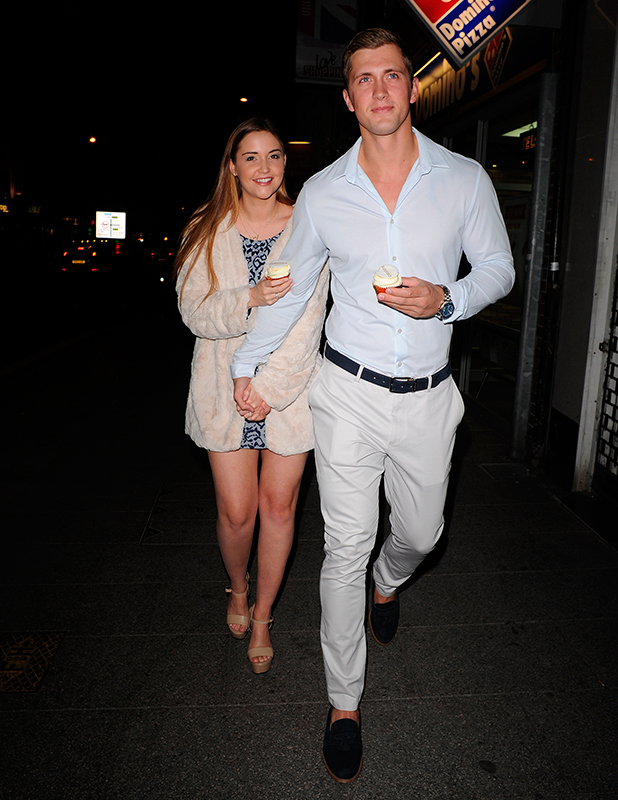 Dan Osborne and Jacqueline Jossa at Chloes Beauty bar for chloe sims launch of her Vlog. 10 Sep 2015