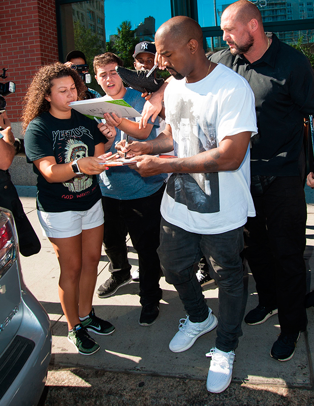Kanye West out and about, New York, America - 07 Sep 2015