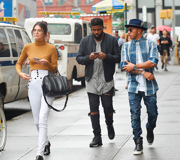 Kendall Jenner and Lewis Hamilton out and about, New York, America - 10 Sep 2015