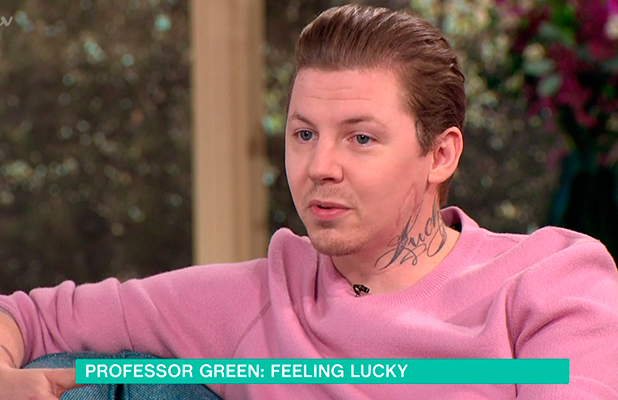 Professor Green promoting his new autobiography 'Lucky' on 'This Morning'. Broadcast on ITV1 HD. 10 September 2015