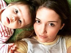 Jacqueline Jossa and daughter Ella take a selfie 16 September