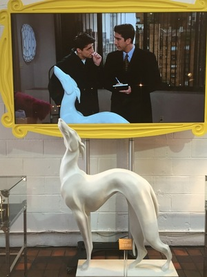 Comedy Central's FriendsFest - Joey's Pat the dog statue - 16 September 2015.