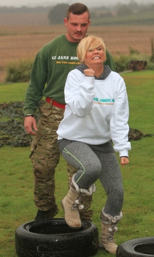 Kerry Katona works out at GI Jane Boot Camp, Sittingbourne 16 September