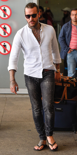 TOWIE star Peter Wicks arrives in Marbella for filming The Only Way Is Marbs, 20 September 2015
