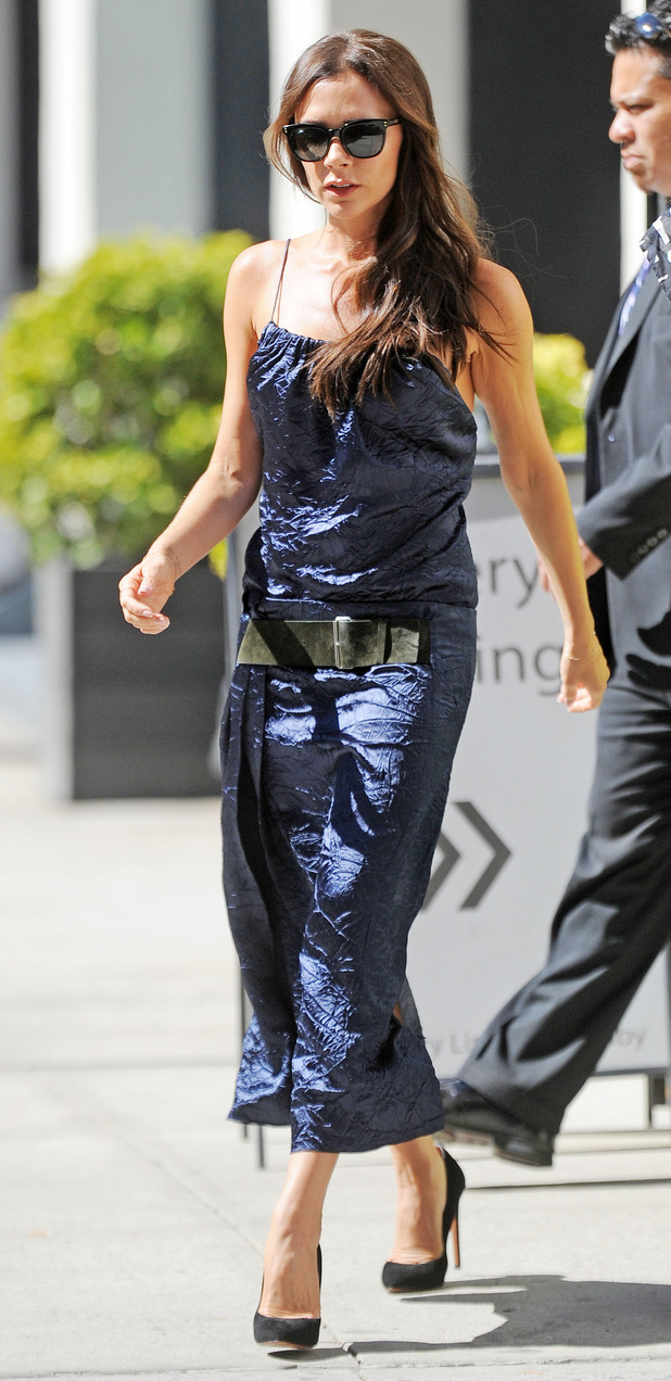 Victoria Beckham out and about in New York after New York Fashion Week show,