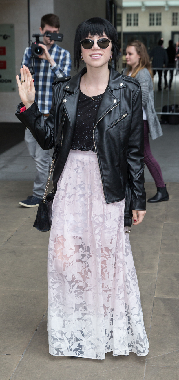 Carly Rae Jepsen out and about in London, BBC Radio 1, 17th September 2015