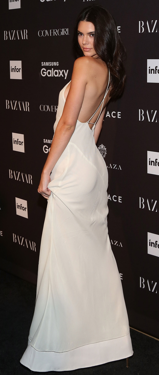 Model Kendall Jenner at the Harper's Bazaar ICONS event in New York yesterday evening, 17th September 2015
