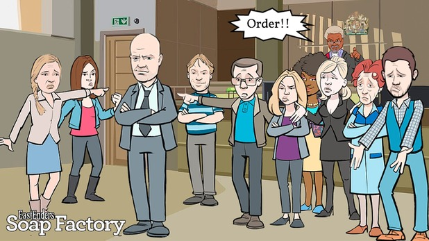 EastEnders launch Soap Factory to tie in with Max Branning's trial. 15 September 2015.