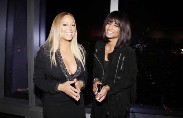 Mariah Carey and Ciara at New York Fashion Week, 15th September 2015