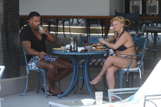 Kerry Katona and George Kay on holiday in Majorca