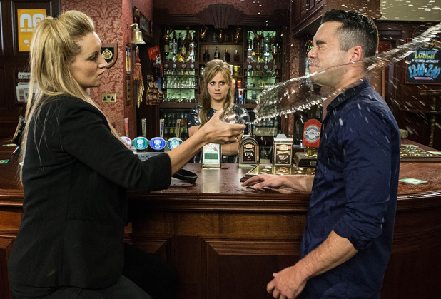 Coronation Street: Eva Price heads to the Rovers to drown her sorrows. When Todd Grimshaw enters, Eva throws her drink in his face and lays into him for splitting up her and Jason.Episode aired: Wednesday 16 September 2015.