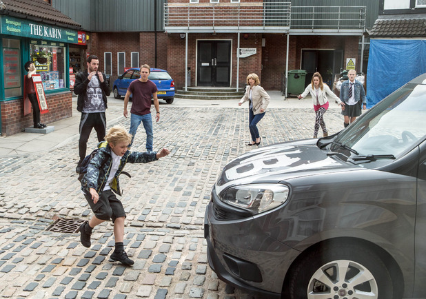 Corrie, Max run over, Wed 16 Sep