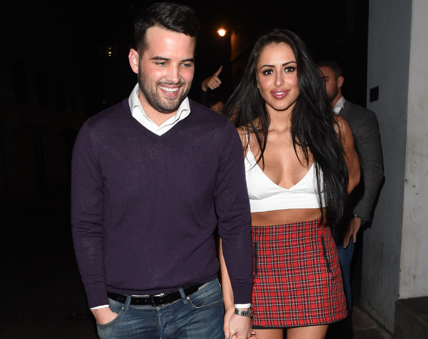 Marnie Simpson and Ricky Rayment enjoy a night out at Cafe De Paris in London 8 February